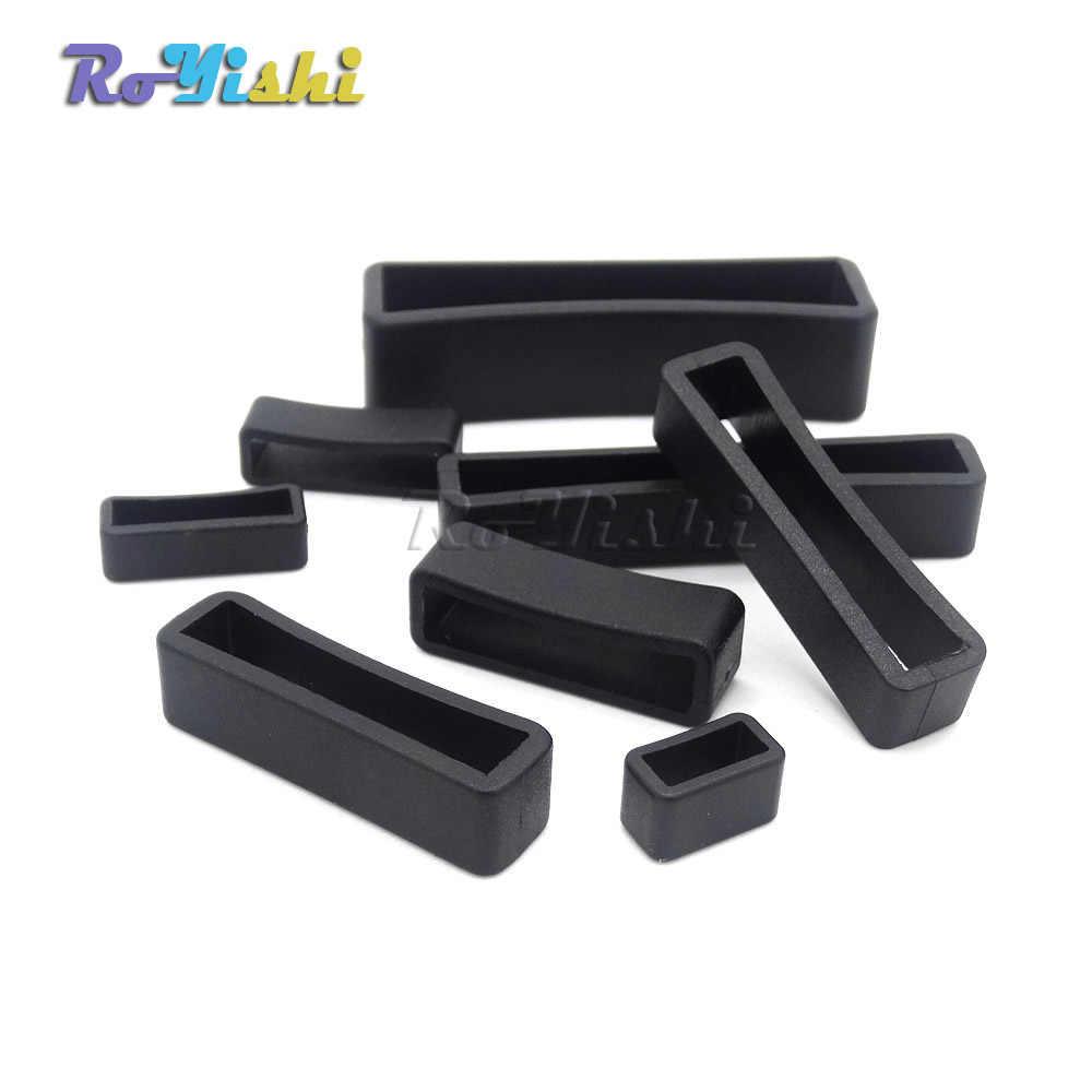 100 unids/pack cinturón de plástico con hebillas con lazo cuadrado