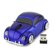 цена на Luxury Beetle Car Wireless Mouse USB Gaming For Desktops Pc USB Gadget 2.4G Mice Optical Mause Mouse For Computer Office