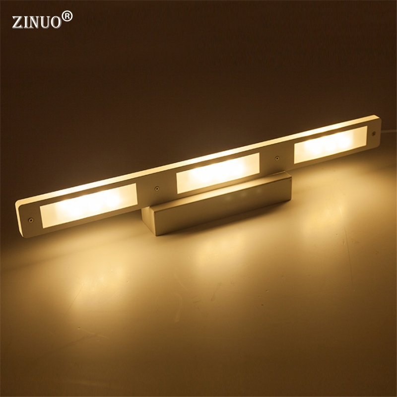 ZINUO Modern Led Mirror Light 6W 12W Waterproof 33CM 53CM For Bathroom Wall Sconce Lamp Apliques De Pared Luz AC 90V-260VZINUO Modern Led Mirror Light 6W 12W Waterproof 33CM 53CM For Bathroom Wall Sconce Lamp Apliques De Pared Luz AC 90V-260V