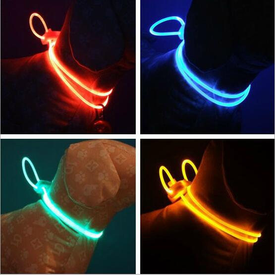 Led Dog Collar Light Chain Luminous Light Led Teddy Dog Pet Cat Collar Night Safety Flashing Led Dogs Collar Harness Accessories