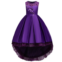 BAOHULU Fancy Girls Princess Dress Little&Big Girl Birthday Vestidos Baptism Weeding Dresses Purple Blue for 3 15Y Kids Clothes