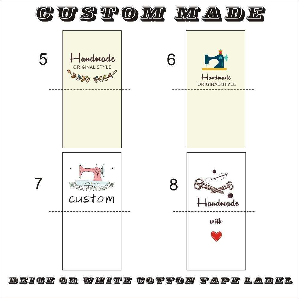 Custom นุ่มป้ายผ้าฝ้ายเสื้อผ้าป้ายเด็กเสื้อผ้าเด็ก NameTags Handmade ป้าย/สีพิมพ์ผ้าฝ้ายป้าย