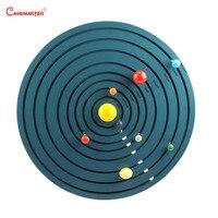 Монтессори солнечная система игрушки Астрономия Обучающие, развивающие деревянная игра дошкольного возраста для детей от 3 до 6 лет игрушки