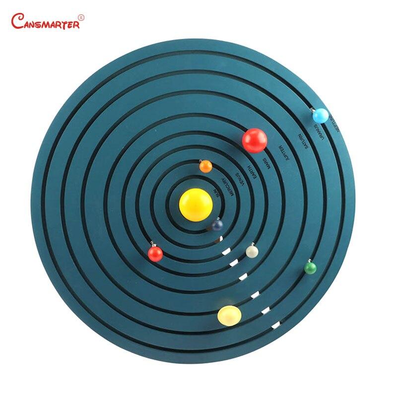 Montessori Solar System Toys Astronomy Teaching Educational Game Wooden Preschool For Kids 3-6 Years Toys ChildrenGE080