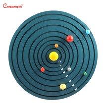 Montessori Solar System Toys Astronomy Teaching Educational Game Wooden Preschool For Kids 3-6 Years Children GE036-3