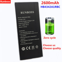 Original Runboss 2600mAh Battery HB4342A1RBC For Huawei Honor 5A (Y6 II Compact) LYO-L21 Y5 2 Y5 II Cell Phone Batteries for huawei honor 5a lyo l21 y6 ii compact y5 ii y5ii card slots cash wallet pu leather phone cases book style coque cover