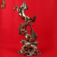Bronze sculpture, horse crafts accessories lucky zodiac horse copper decoration