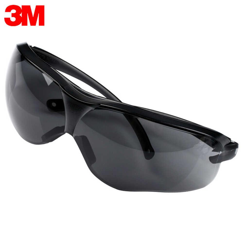 3m 10435 Güvenlik koruyucu gözlük Gözlük Anti-UV Güneş Gözlüğü Anti Sis Darbeye dayanıklı Toz Gözler Siyah koruma gözlükleri