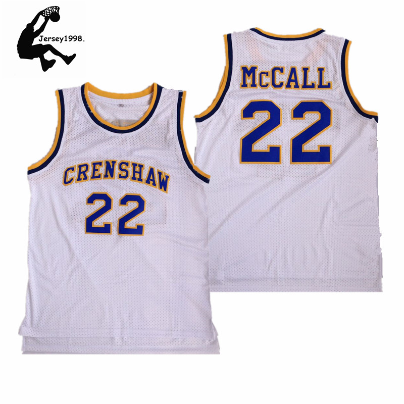 281108698dd New Quincy McCall 22 Crenshaw High School Basketball Jersey Movie Love &  Basketball All stitched white S-XXL