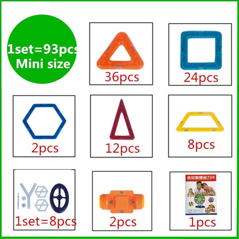 93 հատ հատ Mini DIY մագնիսական շինանյութեր - Կառուցողական խաղեր - Լուսանկար 2