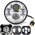 HL-014 For Harley 5.75 inch Projector 40W Round Hi/Lo Beam HID LED Headlight Motorcycle Light