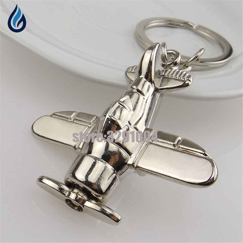 3D métal modèle avion avion porte-clés pour Skoda Octavia Kia Rio Vw Golf 4 Passat B5 Opel voiture porte-clés porte-clés cadeau créatif