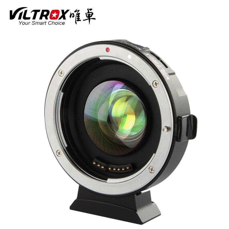 Viltrox EF-M2 Réducteur de Focale Booster Adaptateur Auto-focus 0.71x pour Canon EF monture à M43 caméra GH5 GH4 GF7GK GX7 E-M5 II M10