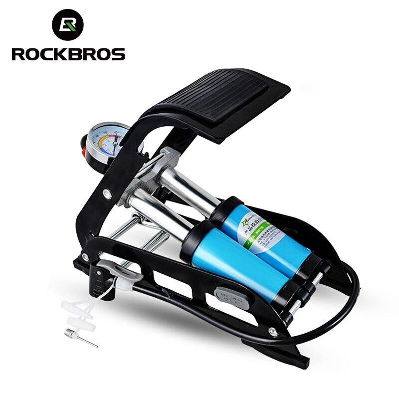 ROCKBROS pompe à vélo haute pression pied gonfleur d'air pompe pour voiture véhicule moto VTT vélo accessoires noir