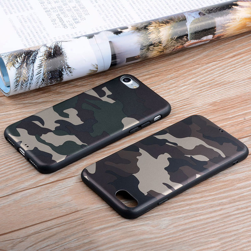Military Camouflage case for iPhone 6 6s 5 5S SE silicone TPU Material soft Skin covers