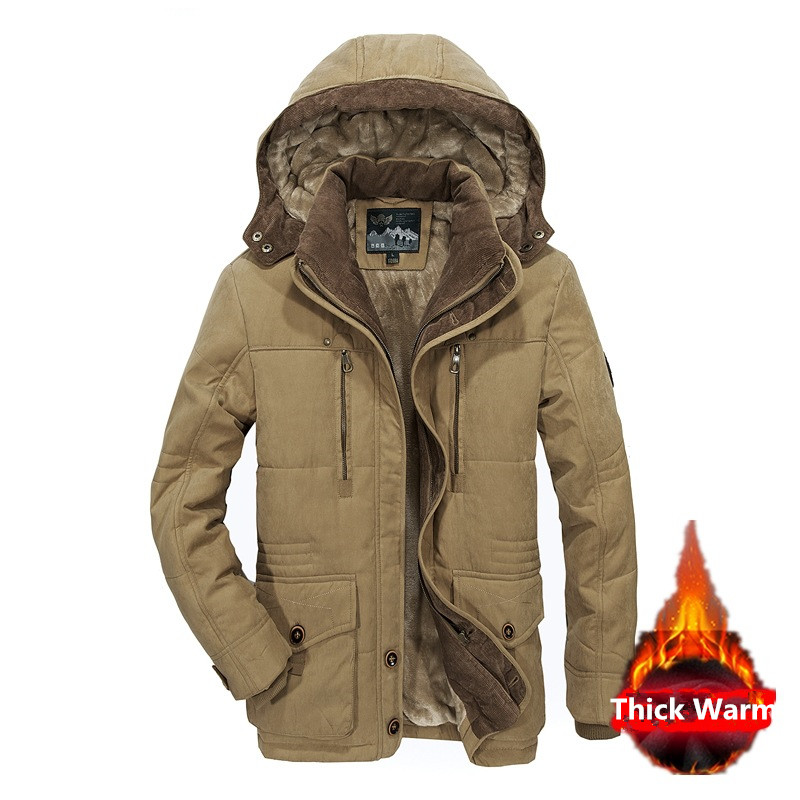 Winter Military Jackets Men 5XL 6XL Thick Warm Cotton-Padded Jacket   Parka   Fleece Casual Coat With Hooded Windbreaker Jacket Men