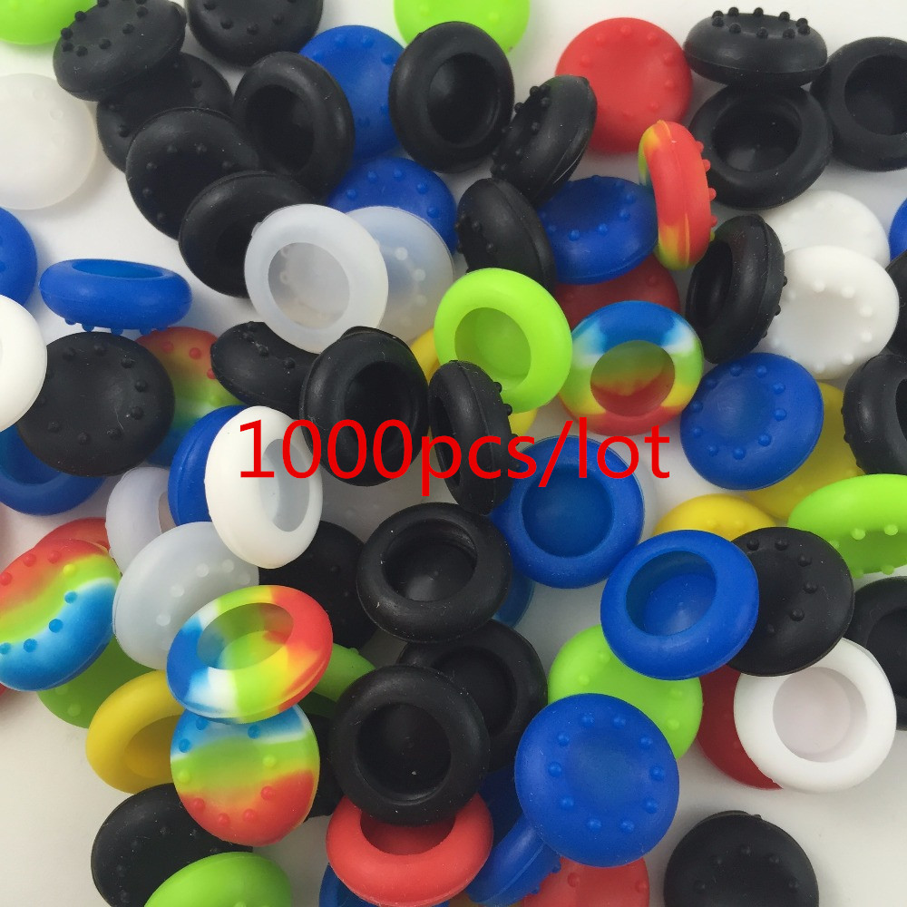 1000 Silicone Key Protector Thumb Stick Cover Case Skin Joystick Controller  Grip Caps For PS3 PS4 Slim PS4 Pro Xbox one Xbox 360