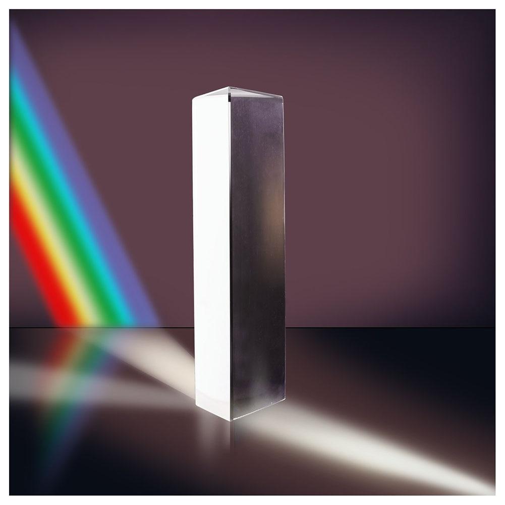 Optical Glass Triple Triangular Prism Physics Teaching Light Spectrum 10cm
