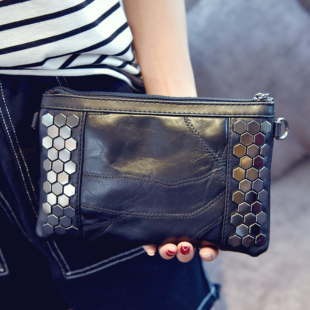 women messenger bags Rivet PU Handbag Day Clutch bolsa feminina bolsas feminina designer handbags high quality bag women