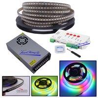 5 м 720 светодиодный WS2812B 5 V 5050 RGB полноцветный светодиодный прибор приемно andT1000S светодиодный контроллер и 5 V 60A светодиодный мощность