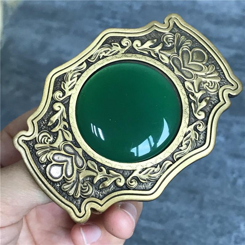 Luxury Jade Belt Buckle Brass Men Belt Diy Belts Buckles Accessories TOP Quality Vintage Belt Buckle Metal Men BK0078