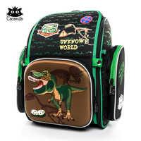 bd0a8ff4ce62 Cocolimo динозаврами сумка для начальной школы для мальчиков детский ортопедический  школьный портфель рюкзак Девушки Фея Mochila
