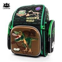 Cocolimo ديناصور تصميم الابتدائية حقيبة مدرسية للأولاد الأطفال العظام حقيبة مدرسية على ظهره الفتيات الجنية Mochila اجتماعيون الأخضر