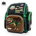 Cocolimo Dinosaurier Design Grundschule Tasche für Jungen Kinder Orthopädische schule tasche Rucksack mädchen Fee Mochila Escolar Grün