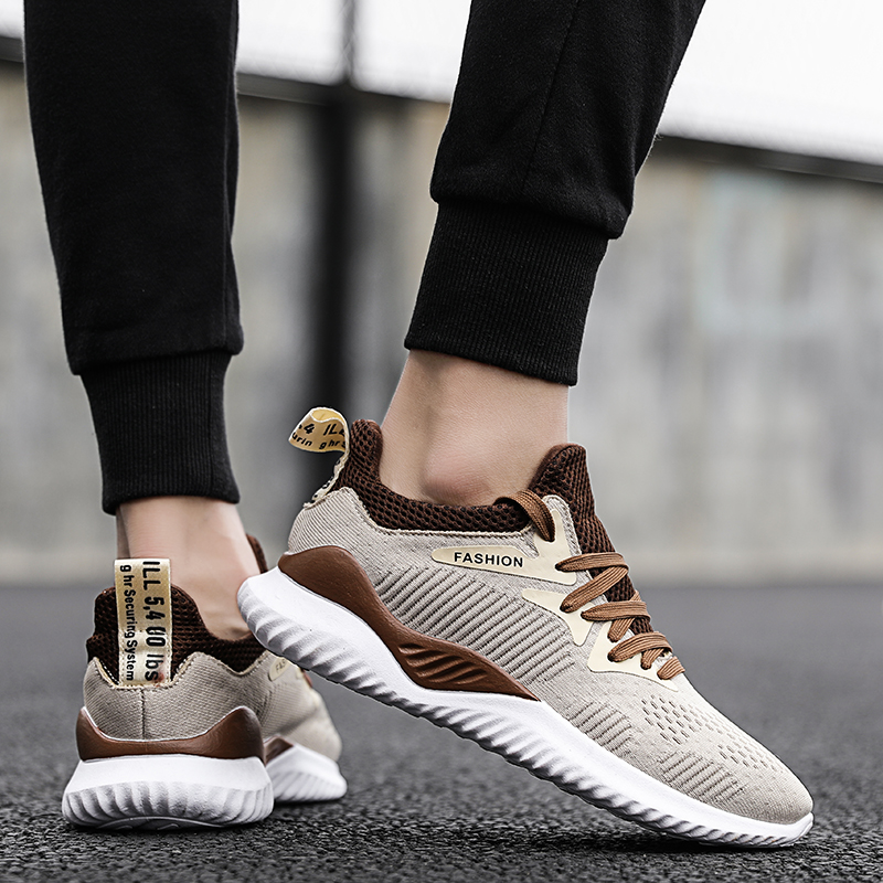 New Typical Style Men 39 s Running Shoes Fashion Lace Up Mesh upper Breathable sneakers Wear Resisting Trekking Footwear PU Soles in Men 39 s Casual Shoes from Shoes