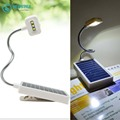 Desktop portable LED solar light  Power-saving Table lamp Clip on Book Light USB / Solar Charging