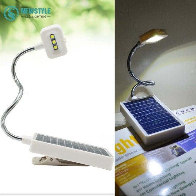 Desktop Portable Led Solar Light Saving Table Lamp Clip On Book Usb Charging