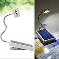 Escritorio portátil de ahorro de Energía de luz LED solar lámpara de Mesa de Clip de la Luz del Libro del USB/Carga Solar