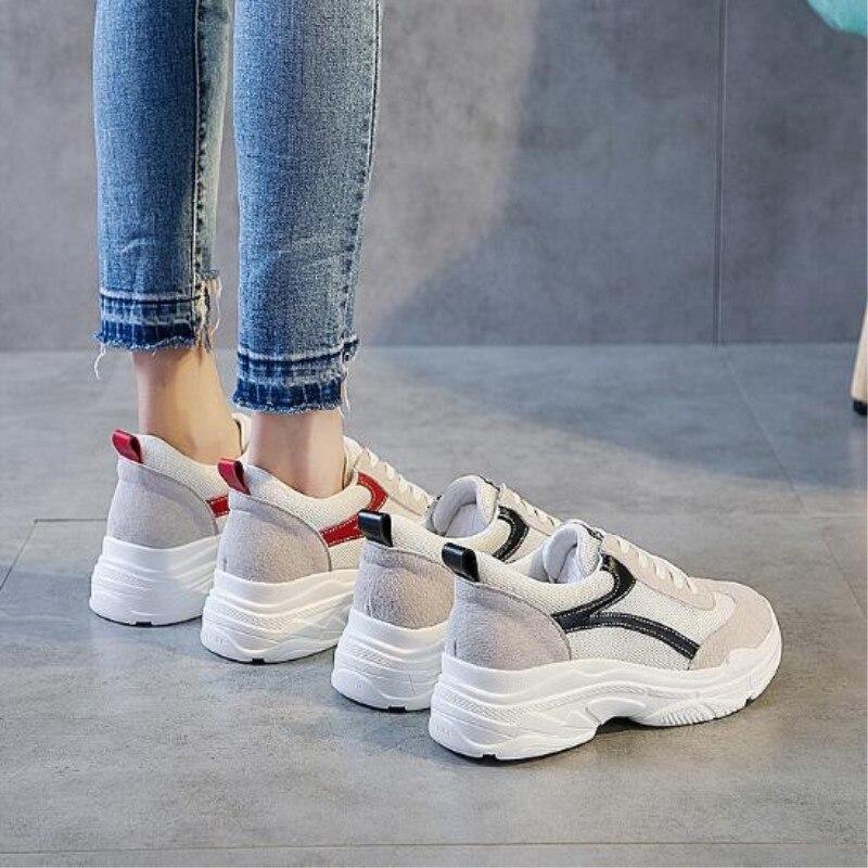 Noir De Femmes Marque D'été Mode Couleur Sneakers Maille Chaussures Printemps Casual Charme 2018 Respirant rouge Zxryxgs dq60UwxS6