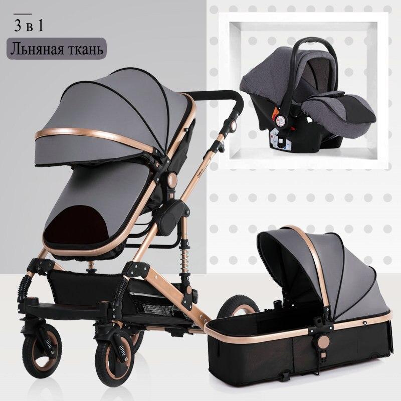 2019 nouveau bébé chariot haut paysage 3 à 1 bébé poussette double face enfants livraison gratuite en quatre saisons en russie - 2