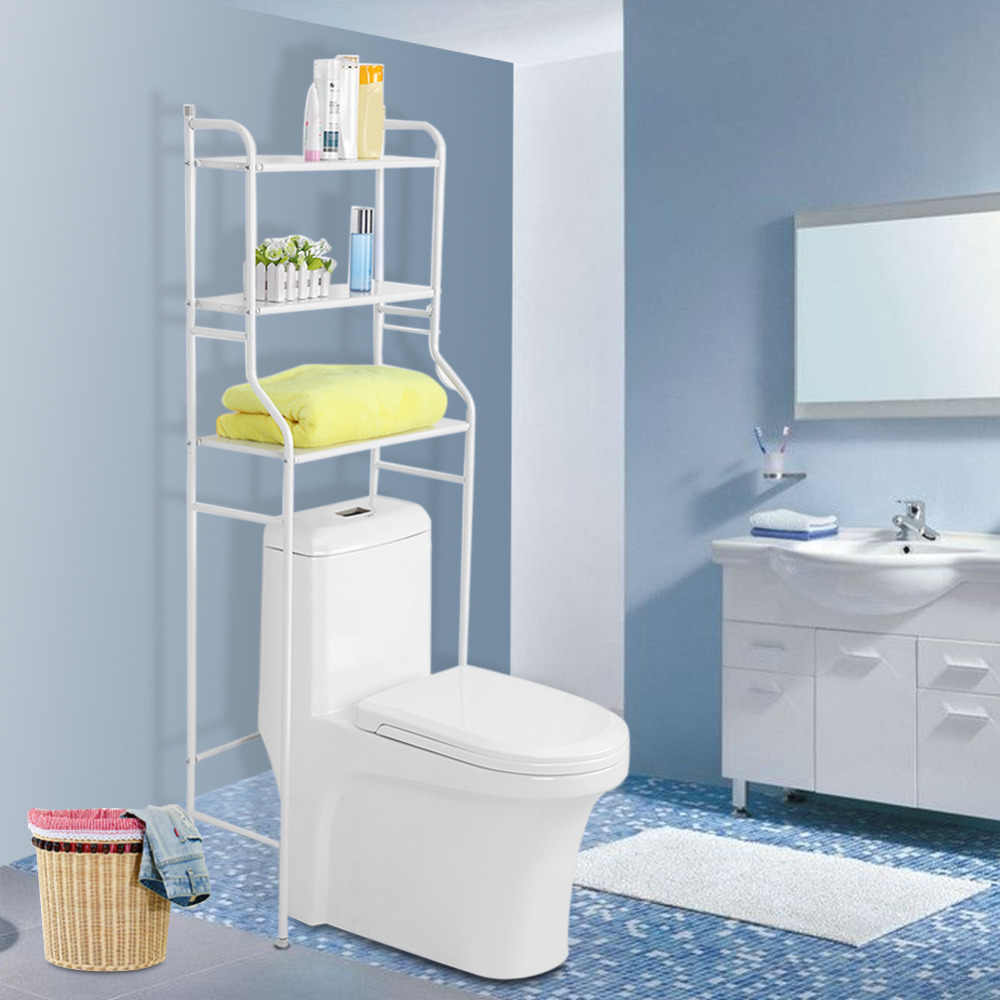 Amazing 3 Tier Iron Toilet Towel Storage Rack Holder Over Bathroom Washing Machine Storage Rack Shelf Bathroom Set Home Interior And Landscaping Ologienasavecom