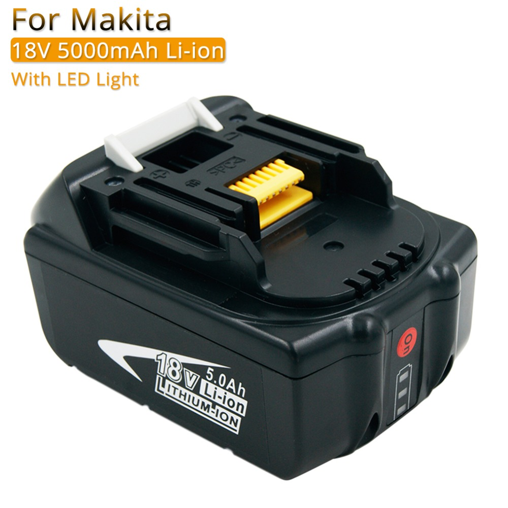 BL1850 with LED rechargeable battery 18V 5A Lithium Replacement Batteries for Makita Cordless Power Tools BL1830 BL1840 LXT400 BL1850 with LED rechargeable battery 18V 5A Lithium Replacement Batteries for Makita Cordless Power Tools BL1830 BL1840 LXT400