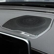 For Mercedes Benz W205 GLC C Class C180 C200 Car styling Audio Speaker Dashboard Loudspeaker Cover Stickers Trim Accessories LHD for mercedes benz c class w205 c180 c200 c260 glc 2015 2016 screen cover trim car interior accessory