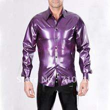 classical purple latex coat shirt for man