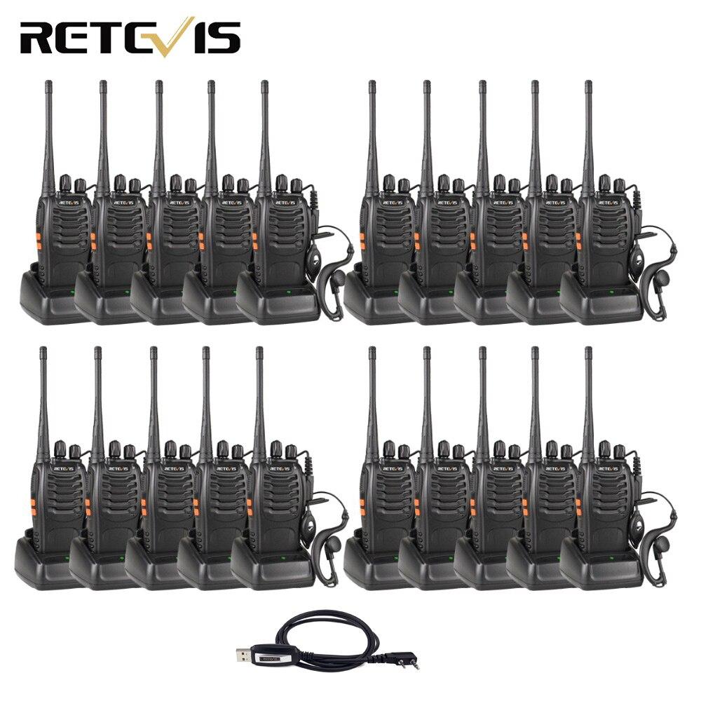 20 pcs Walkie Talkie Retevis H777 3 W UHF 400-470 MHz Handheld Radio Portatile Ham Radio Hf strumento di Comunicazione ricetrasmettitore