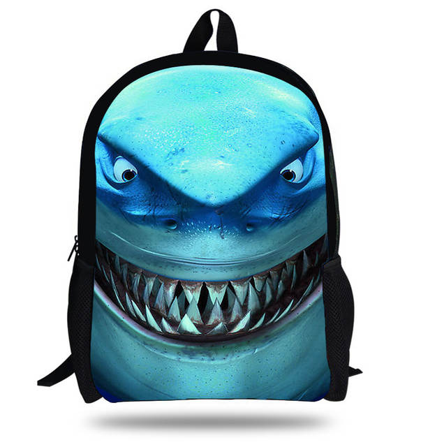 5572dbd35f67 Online Shop 16-inch Mochila School Kids Backpack Animal Bag Great White  Shark Backpack Children School Bags For Boys Primary School Age 7-13