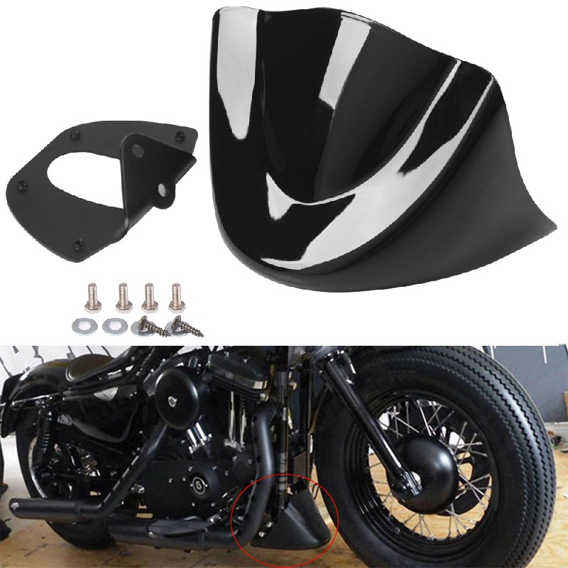 Motorcycle Front fender bobber Front Chin Spoiler Air Dam Fairing Cover Mudguard Fit For Harley Sportster Dyna Motorcycle Front fender bobber Front Chin Spoiler Air Dam Fairing Cover Mudguard Fit For Harley Sportster Dyna