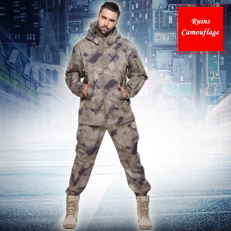 Ruins camouflage Outdoor Realtree Camouflage Hunting Clothes Breathable Hiking Realtree Camo Clothing Waterproof Hunting Suits windproof realtree camouflage suits wild hunting clothing oem vision