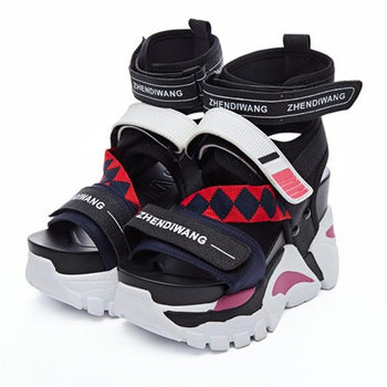 NAYIDUYUN  Women Sport Sandals Platform Wedges Gladiators High Heel Sandals Strappy Fashion  Summer Sneakers Creepers Shoes