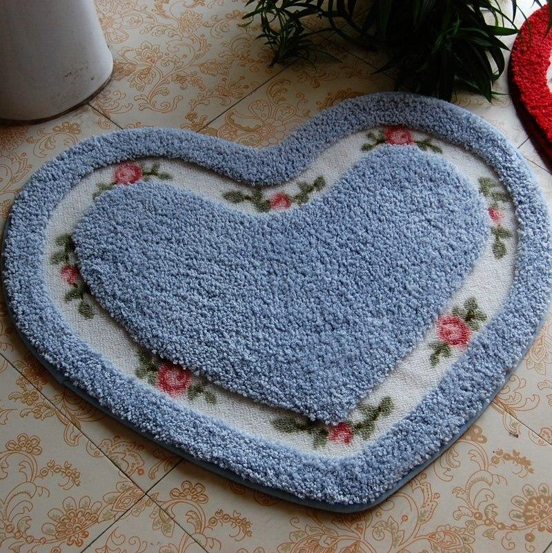 1 pc Mignon coeur tapis Anti-slip tapis De Bain paillasson salle de bains déchets absorbant 45*50 cm/50*65 cm