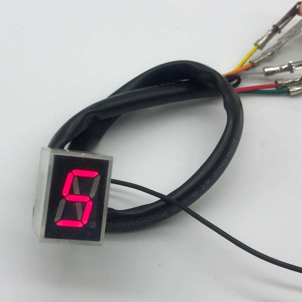 Mortorcycle Parts Red LED Universal Digital Gear Indicator Display Shift Lever Sensor
