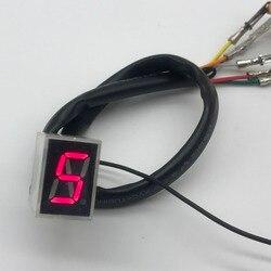 Mortorcycle peças led vermelho universal digital indicador de engrenagem display shift lever sensor