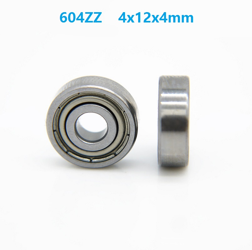 1000pcs/lot <font><b>604ZZ</b></font> 604Z 604 Z ZZ bearing 4x12x4 mm double shielded Deep Groove Ball bearing Miniature 4*12*4 image