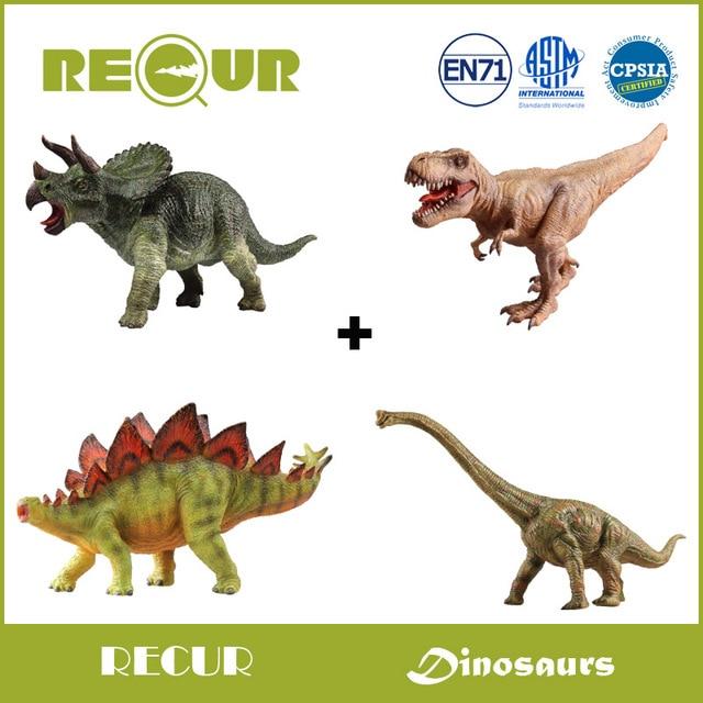 4 unids/set recur el diseño original Triceratops + t rex + ...