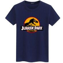 2018 JURASSIC PARK Print Men T Shirt Summer Tops Casual Tee shirt homme Harajuku Hipster White