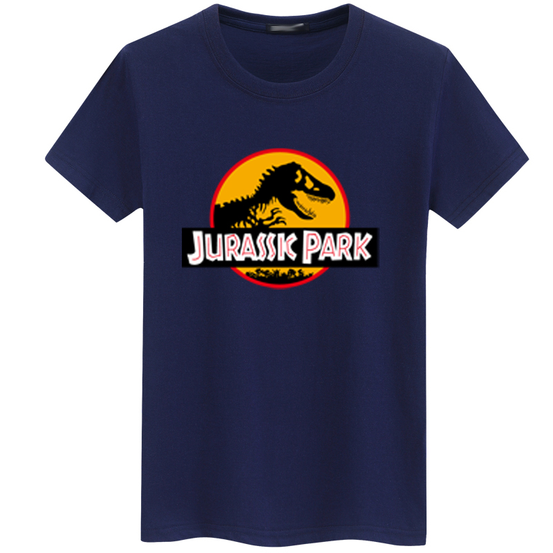 2018 JURASSIC PARK Print Men   T     Shirt   Summer Tops Casual Tee   shirt   homme Harajuku Hipster White Short Sleeve o-neck fashion tops